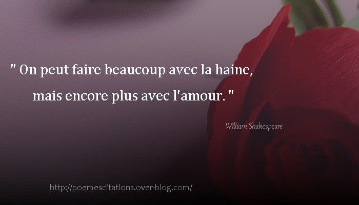 Phrase Amour William Shakespeare Jules Clecyluisvia Net