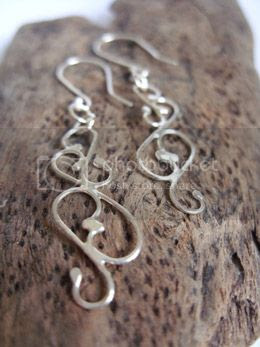 baroque earrings - silver moss jewellery
