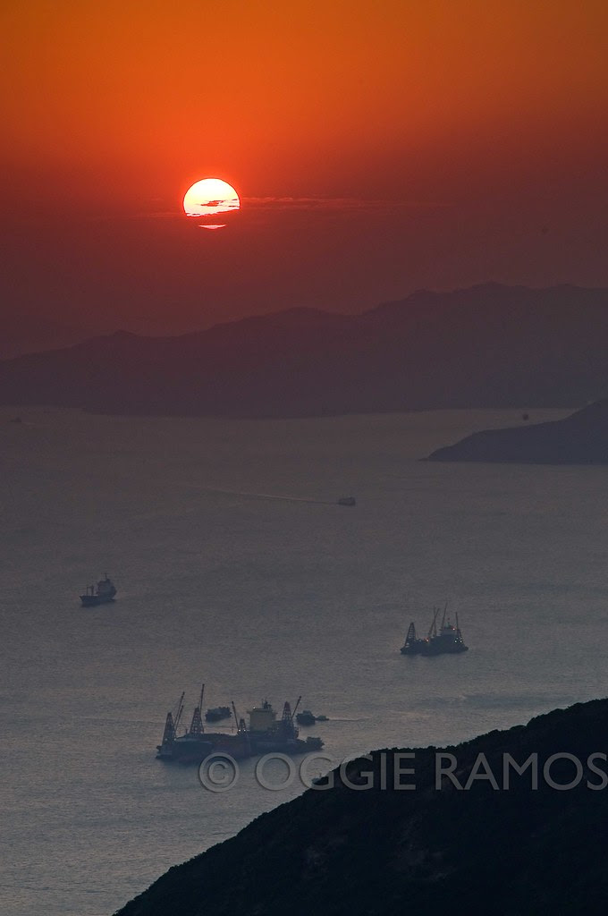 Hong Kong Harbor Sunset View from Victoria's Peak