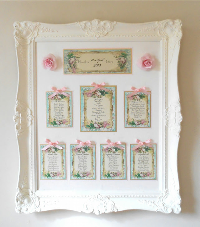 Vintage Wedding Table Plan Ref 131 Rose Gold Folksy