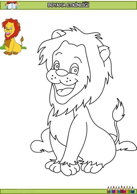 sevimli aslan boyama etkinligi meb ders