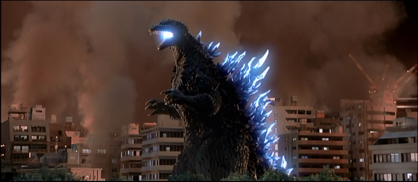 Godzilla about to wreck something.