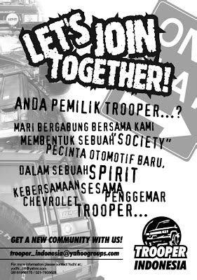Komunitas Trooper Indonesia: Sejarah Komunitas Trooper