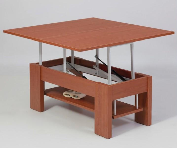 Casas cocinas mueble mesa elevable y extensible for Mesa de centro elevable y extensible