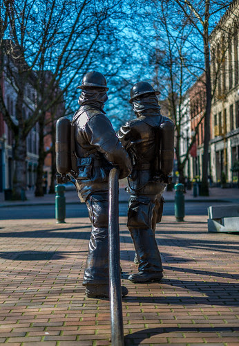 Occidental Park in Seattle Firefighters' Memorial by davidjlee