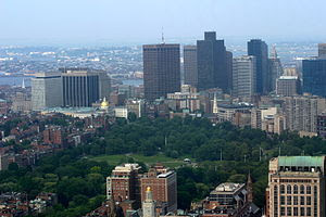 Photograph of Boston Common from the Skywalk o...