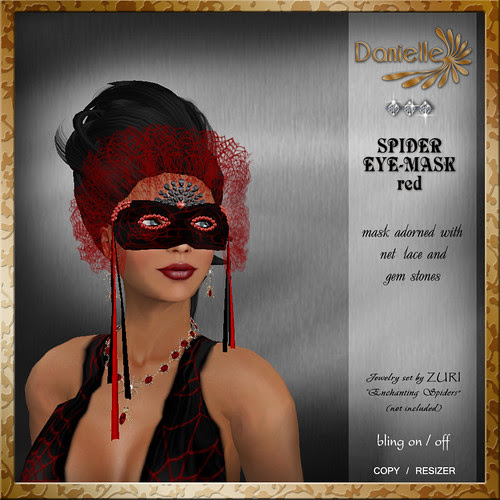 DANIELLE Spider Mask Red