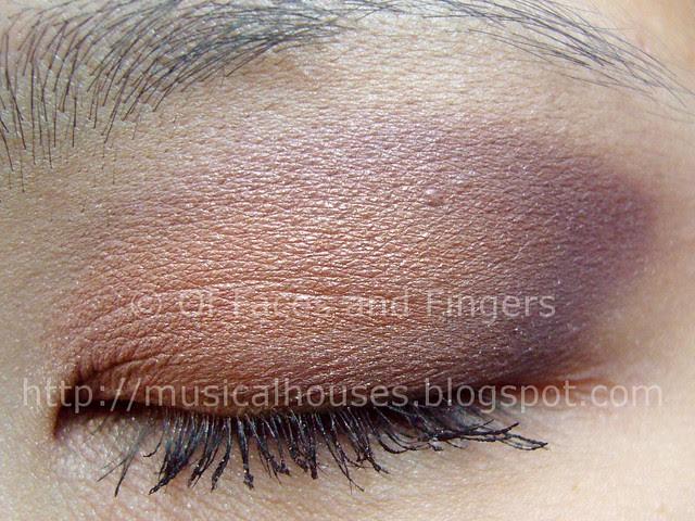peach purple eye look 2