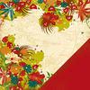 panorama floral paper