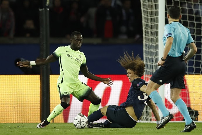 David Luiz, PSG x Manchester City (Foto: Reuters)