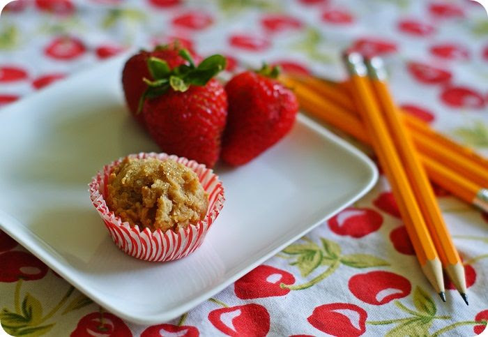 peanut butter oatmeal mini muffins ::: bake at 350 blog