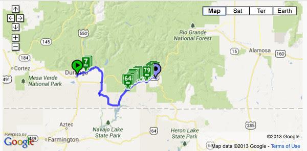 Durango to Pagosa Springs