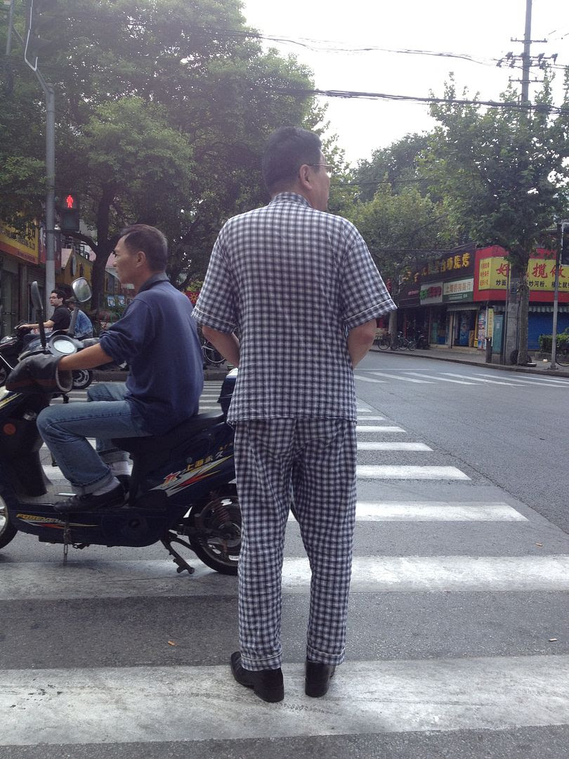 Man in pajamas in public in Shanghai, China photo 2013-10-04113531_zps6e4ed331.jpg