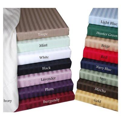 Simple Luxury Gray 300 Thread Count Egyptian Cotton Stripe Sheet