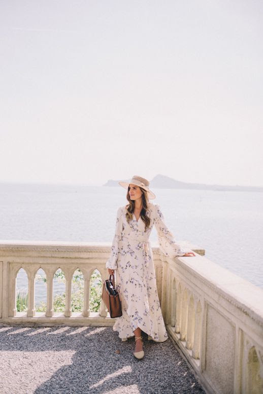 Le Fashion Blog Floral Maxi Dress Flat Sandals Tote Bag Via Gal Meets Glam