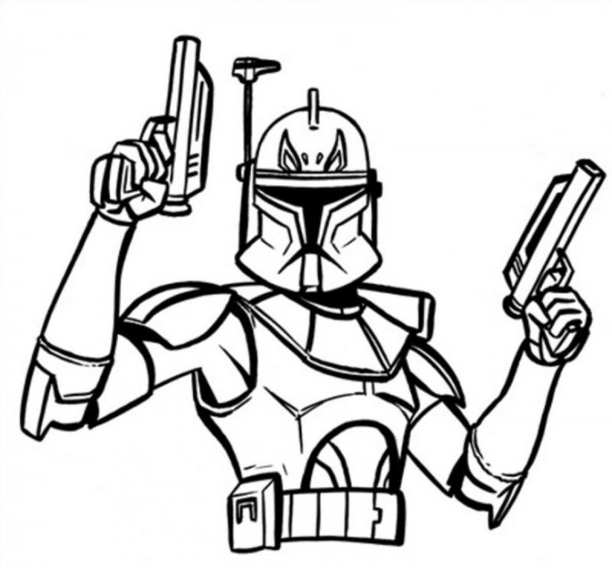 Easy Simple Star Wars Coloring Pages Coloring And Drawing
