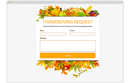 Visual: Thanksgiving Request