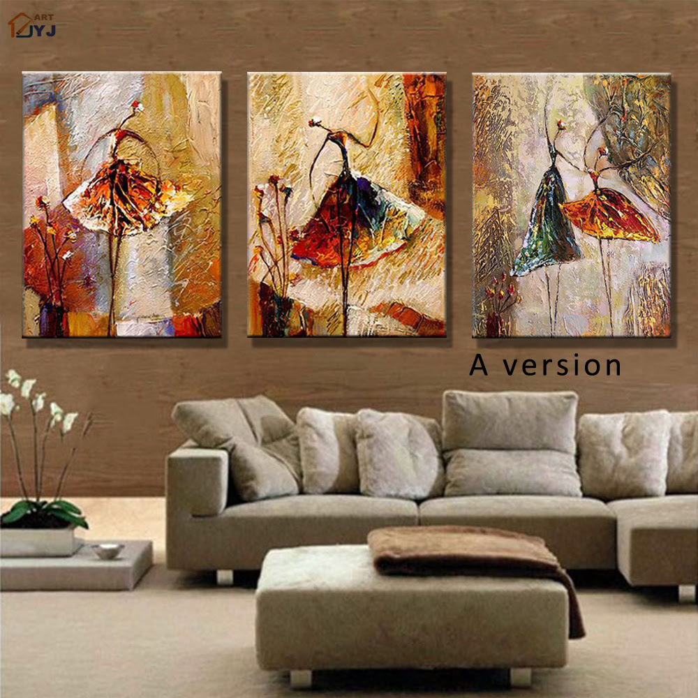 Ballet Dancer Picture Hand Painted Modern Abstract Oil ...