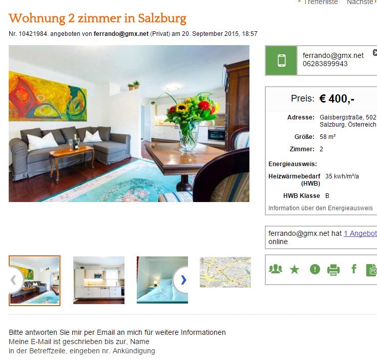 Wohnungsbetrug.blogspot.com: Wohnung 2 Zimmer In Salzburg