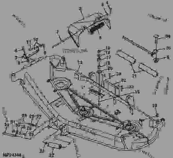 John Deere 54c Mower Deck Diagram