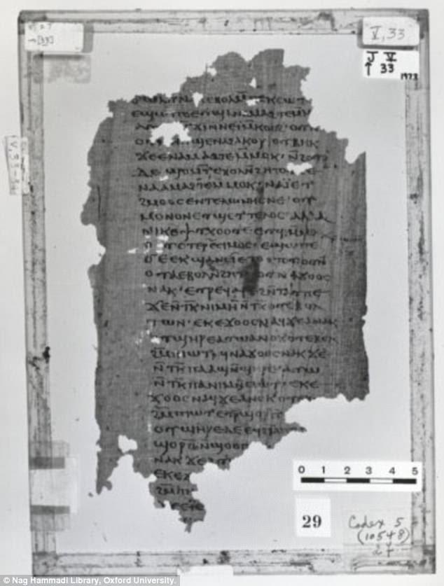 Como a maioria dos registros gnósticos, muitos dos manuscritos de Nag Hammadi estão escritos em cóptico, uma língua tradicional egípcia. No início deste ano, os pesquisadores descobriram que um dos textos da biblioteca se destacava porque era uma cópia em grego de uma peça existente (foto) escrita em copta