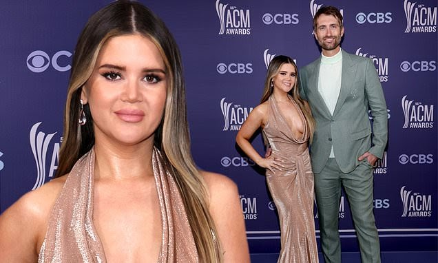 Maren Morris flashes cleavage in jaw-dropping gown on ACM