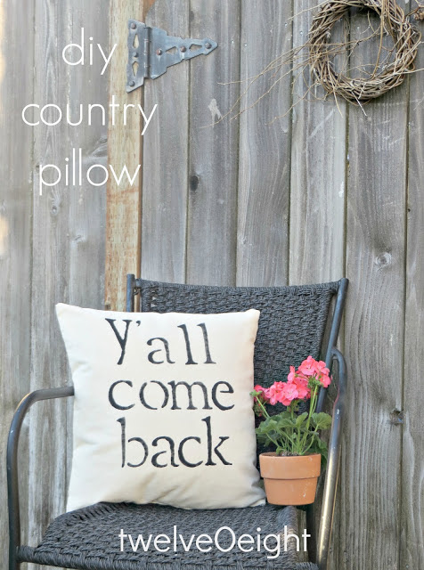 Y'all come back outdoor pillow by Twelve O Eight