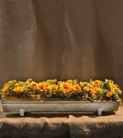Zinc Feeding Trough Planter Tray with Legs 24 Inch