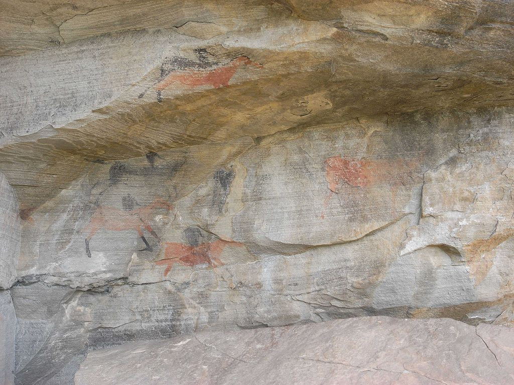 http://upload.wikimedia.org/wikipedia/commons/thumb/9/95/Karoo_sandstone_with_bushmen_paintings.jpg/1024px-Karoo_sandstone_with_bushmen_paintings.jpg