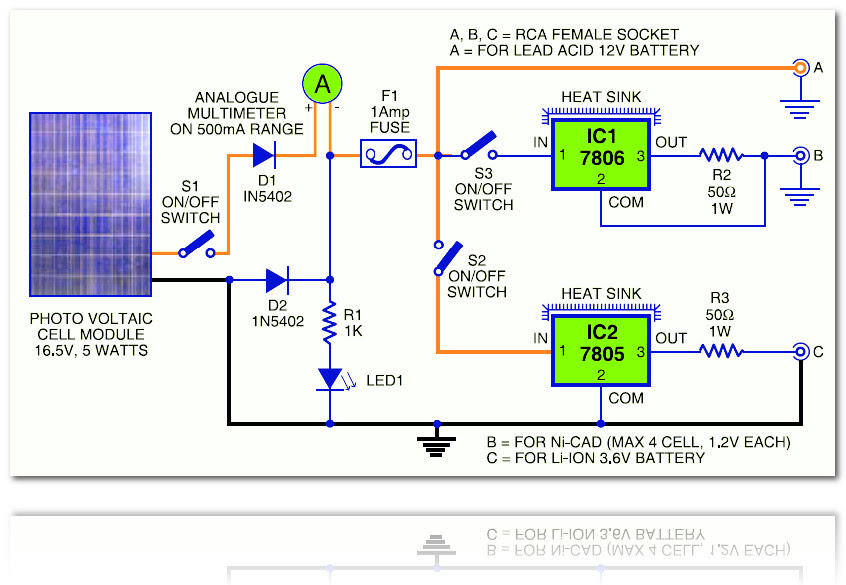 Diagram For Everything  Solar Battery Charger Circuit