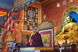 The Karmapa visited Seattle's Sakya Monastery of Tibetan Buddhism on the morning before his May 9 public talks