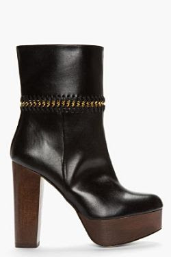 Stella McCartney Black 7 Eaton Chain-Trimmed Boots