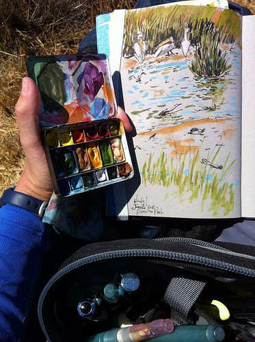 Windy Day Sketching in Shoreline