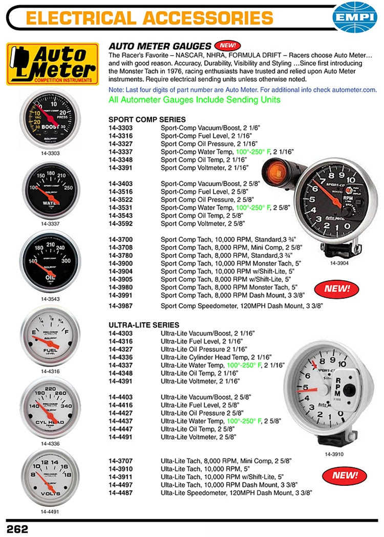 Diagram  Nm Auto Meter 3900 Sport Comp Monster Tach 5 In