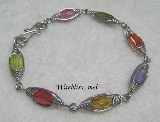 Herringbone Woven Colorful Crystal Bracelet
