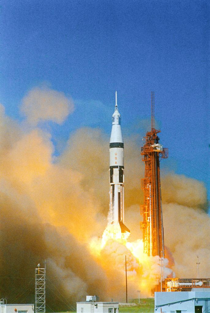 Oct11-1968-Apollo7liftoff
