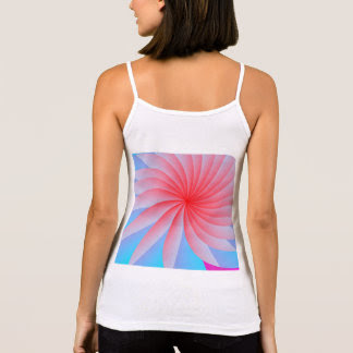 Pink Passion Flower Spaghetti Strap Tank Top