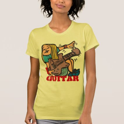 I Guitar - Fun Girl Guitarist tuning guitar Shirt