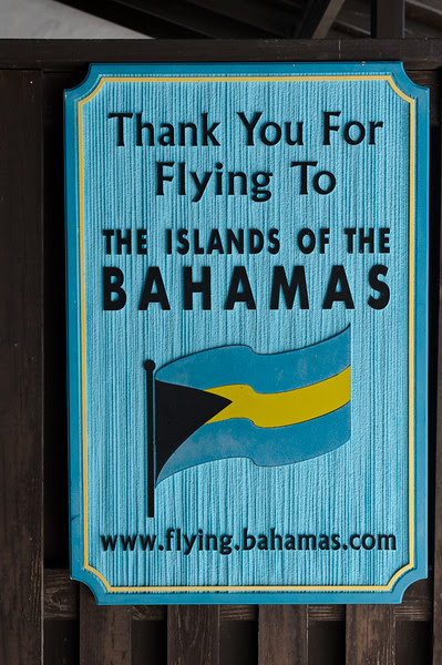 Welcome to the Bahamas sign