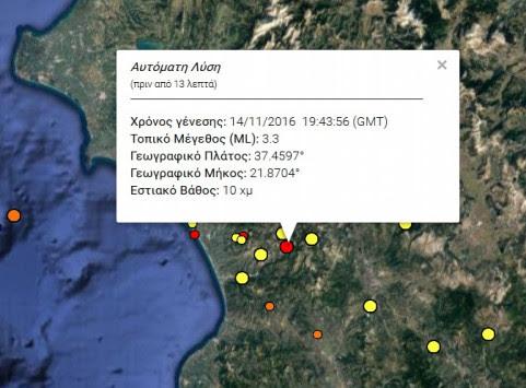 Σεισμός στην Ηλεία