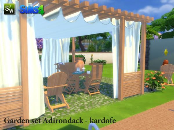 The Sims Resource: Garden set Adirondack by Kardofe • Sims ...