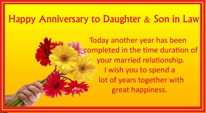 Happy Anniversary To Daughter And Son In Law Wishes4lover