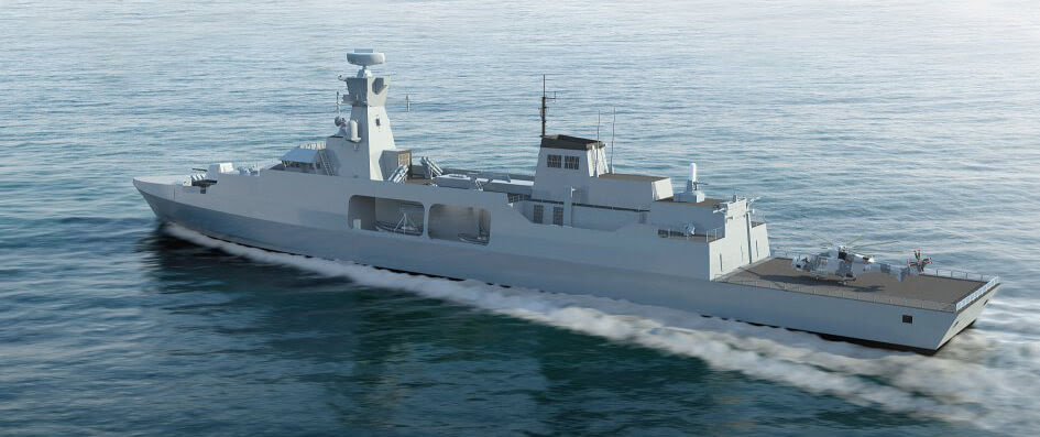 Leander concept for Type 31e frigate