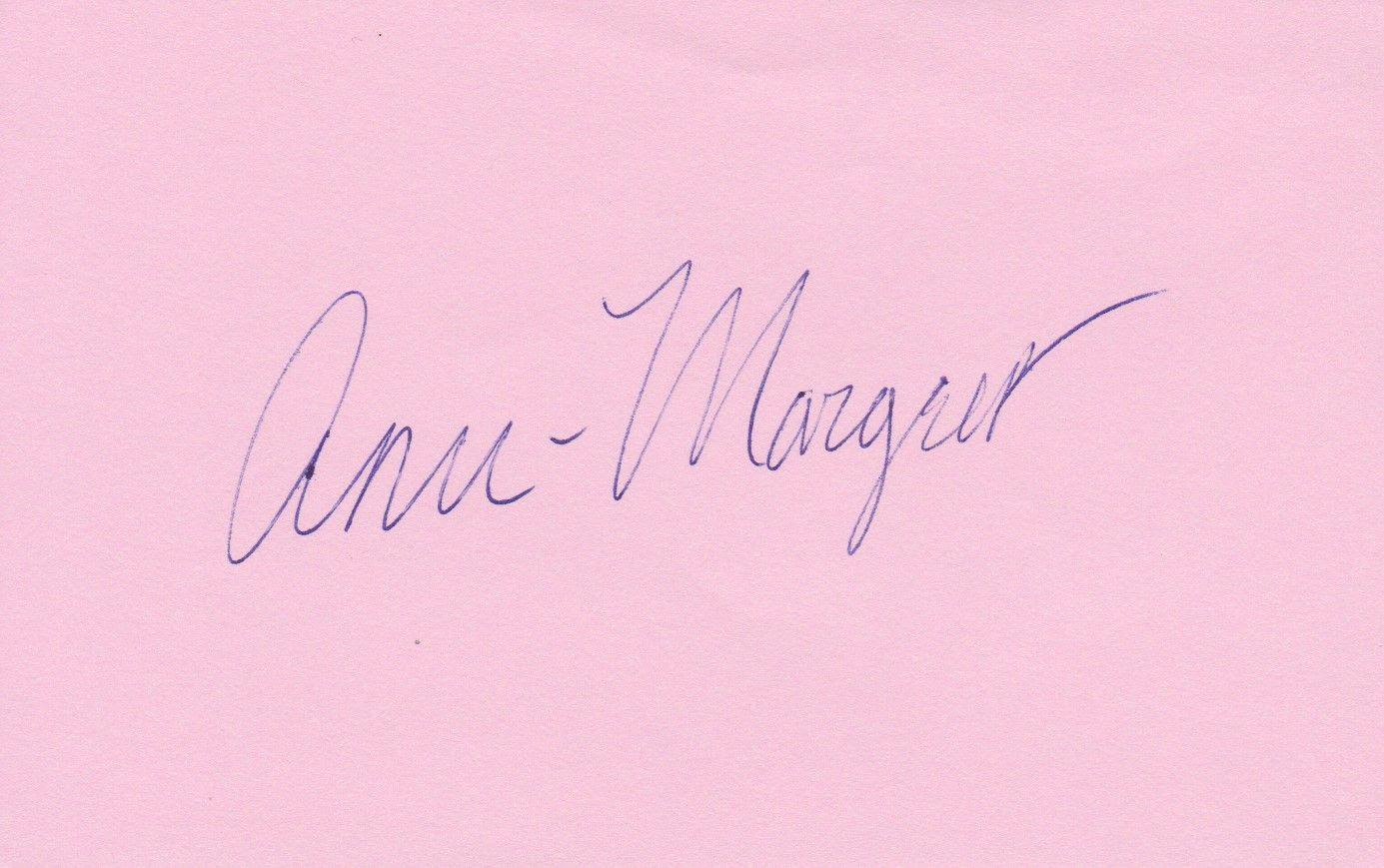AACS Autographs: Ann-Margret Autographed 3x5 Signature Page