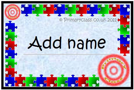 Editable Name Labels - PrimaryClass.co.uk