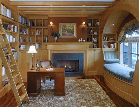 fabulous home libraries showcasing window seats