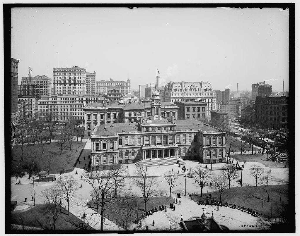 Manhattan's City Hall is the oldest such building in the US.