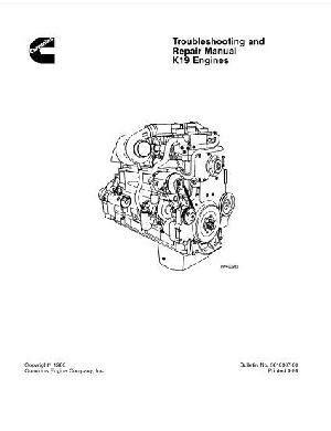 Cummins KTA19 engine specs, bolt torques and manuals