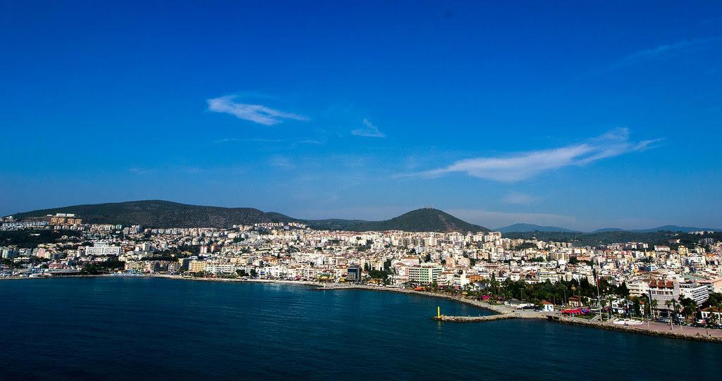 The port in Kusadasi Turkey