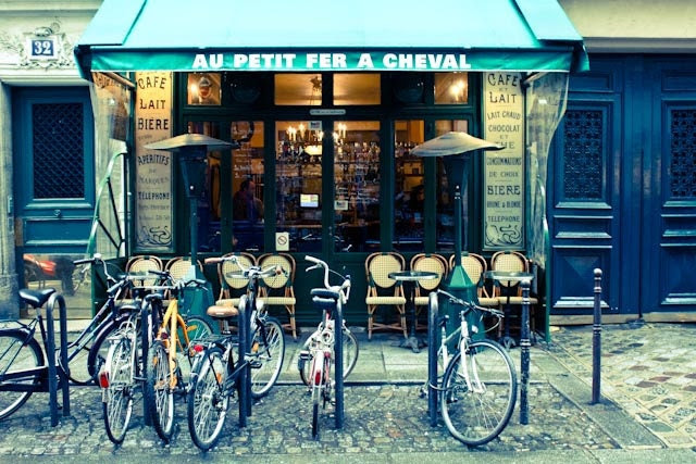 Paris Cafe in the Marais- 8x10 Fine Art Photograph - Paris Photography - Affordable Decor